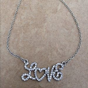 Jewelry - Silver Tone Crystal Love Elegant Anklet Ankle